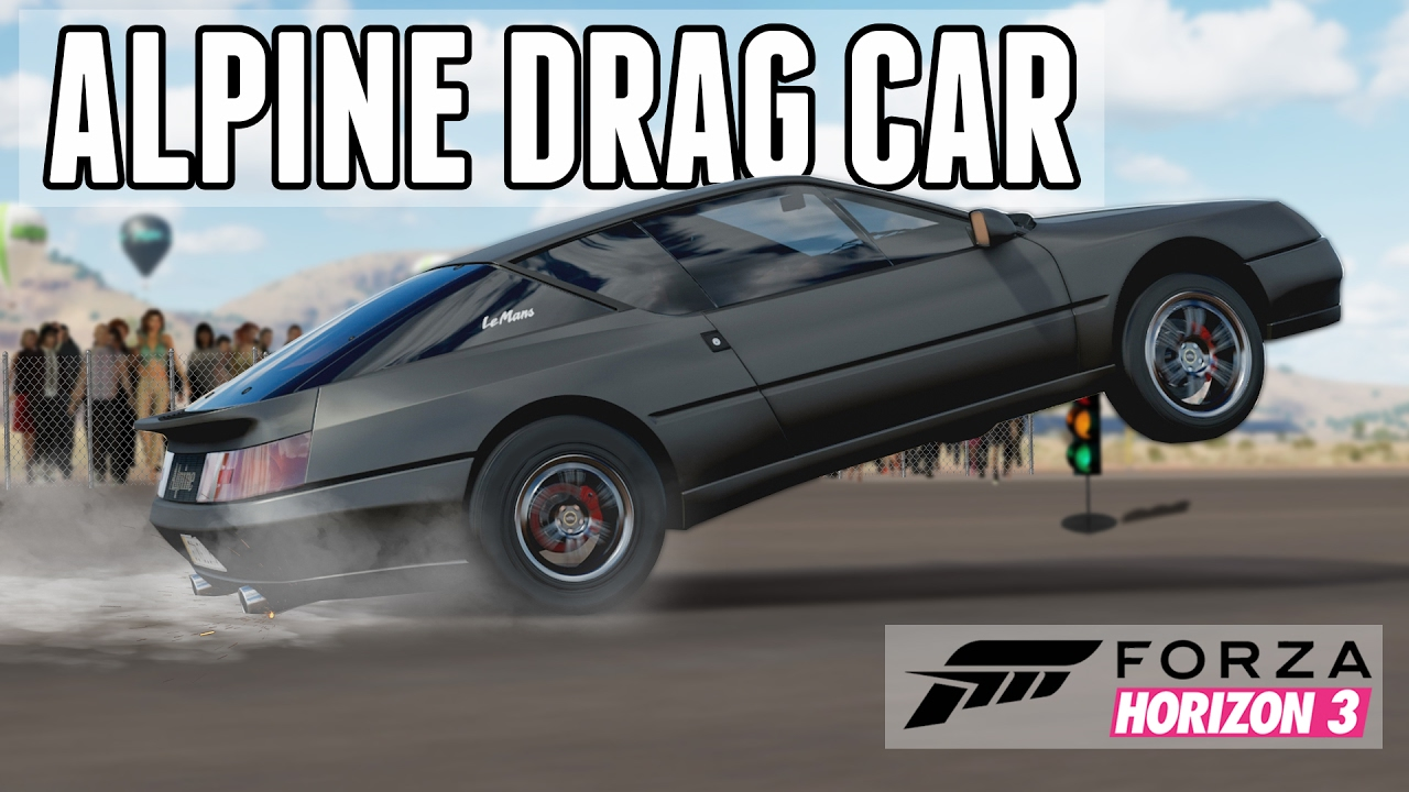 Hp Gtr Powered  Renault Alpine Gta Drag Wheelie Car Forza Horizon  Youtube