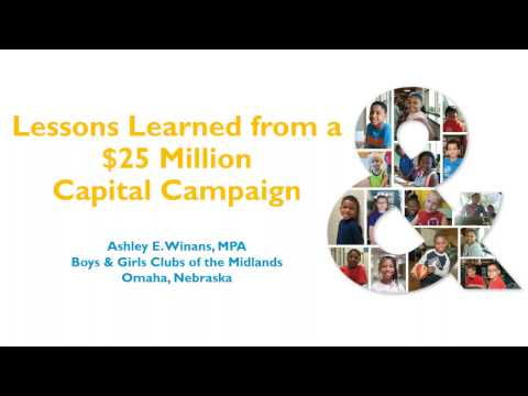 RD PRO Webinar Series  Lessons Learned from a $25 Million Capital Campaign