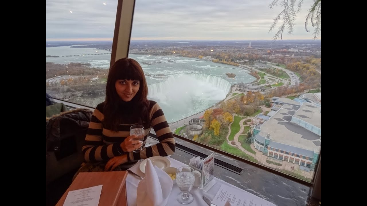 Beau Niagara Falls View To Die For! Skylon Tower Revolving Restaurant