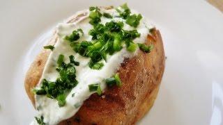 Rezept: Backkartoffeln mit Sour Cream Dip selber machen / How to make Sour Cream / Baked Potato