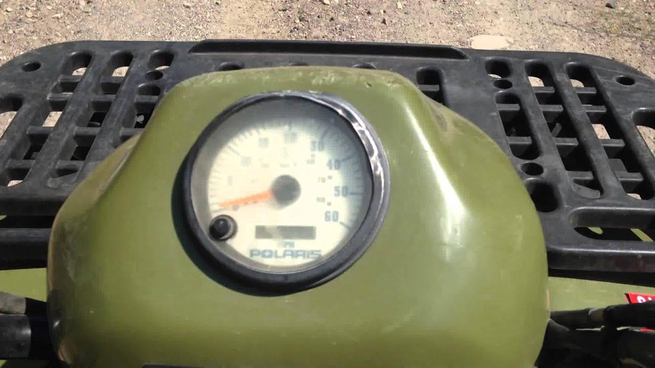 Polaris Sportsman 400 Wiring Diagram Arctic Wolf 500 With Broken Speedometer - Youtube
