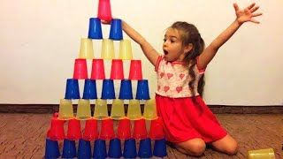 Kids Pretend Play With Colored Cups Learn Colors with Colored cups