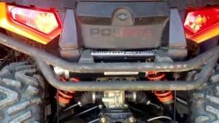 Looney Tuned Exhaust on 2012 Sportsman XP 850 H.O.