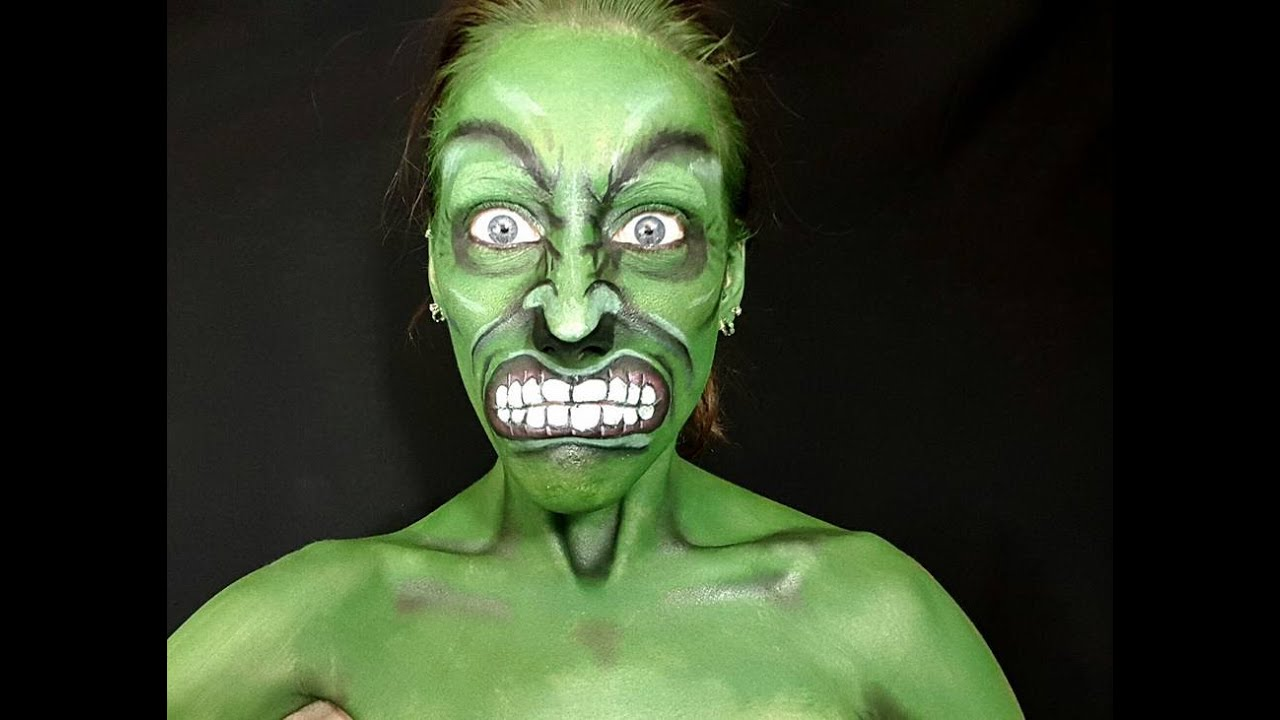 Hulk Face Paint - YouTube