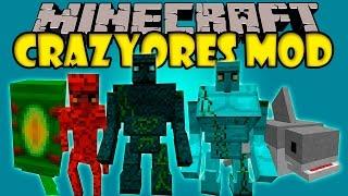 CRAZY ORES MOD - Golems Gigantes y mas!! - Minecraft mod 1.6.4 y 1.7.10 Review ESPAÑOL