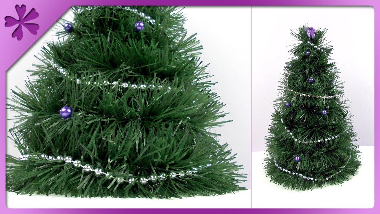 DIY Tinsel Garland Christmas Tree (ENG Subtitles)