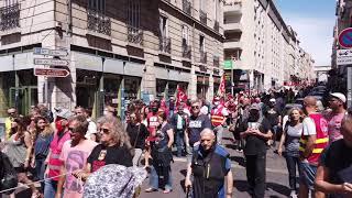 Porte d'Aix à Marseille : environ 6 000 manifestants pour défendre le système de santé