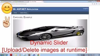 How to create Dynamic slider in Asp.Net [Using Bootstrap Carousel]