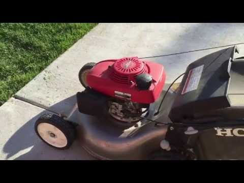 Honda Lawn Mower HRR2162SDA runs high and low rpm ...