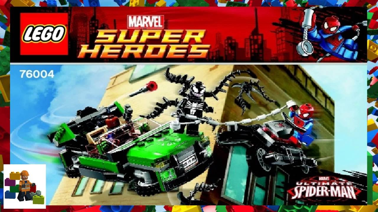 Lego Instructions Super Heroes 76004 Spider Man Spider Cycle Chase Youtube