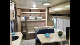 Дом на колесах с большой детской комнатой Hobby De Luxe 650 KMF Видеообзор