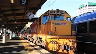 """【ニュージーランド】 「ノーザンエクスプローラー」 ウェリントン駅発車と車内 """"Northern Explorer"""", Wellington Station New Zealand (2018.10)"""