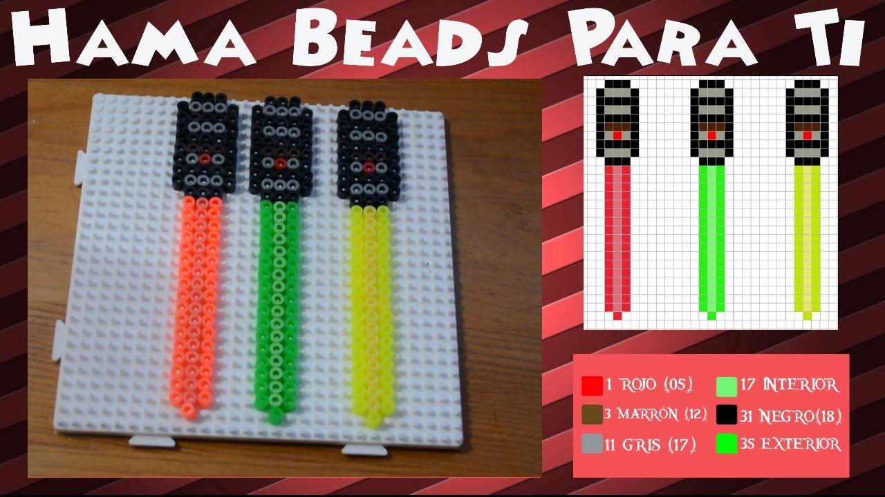 Worksheet. Espada lser Brilla en UV  Tutorial Hama Beads  YouTube