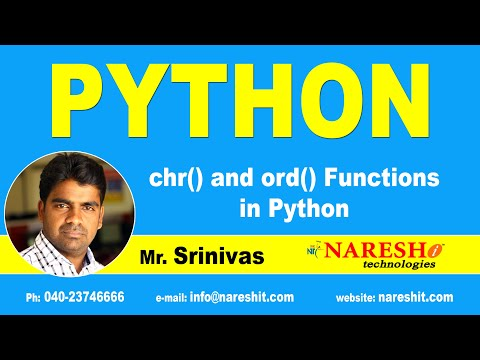 Python Tutorials | chr() and ord() Functions in Python | by Mr.Srinivas thumbnail