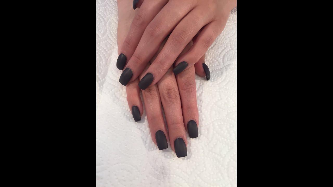 Uñas acrilicas: Aplicacion acrilicoy Efecto Matte organic Nails ...