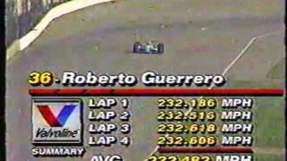 1992 Indy 500 - Roberto Guerrero record breaking qualifying run