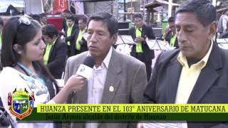HUANZA PRESENTE EN EL DESFILE DEL 5 DE SETIEMBRE MATUCANA 2016
