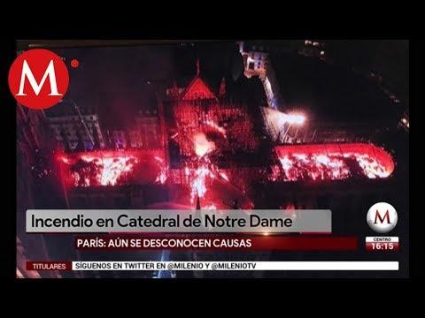 Imagen del incendio de Notre Dame desde un dron