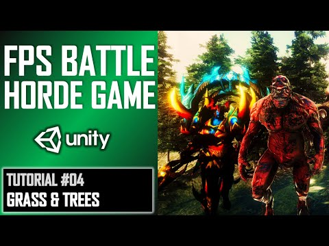 HOW TO MAKE FPS BATTLE HORDE GAME IN UNITY - TUTORIAL #04 - SCULPTING A WORLD thumbnail