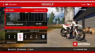 MX vs. ATV All Out customizing bike grathics