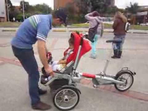 triciclo con coche para ni os disponible en ciclo mejia youtube. Black Bedroom Furniture Sets. Home Design Ideas