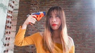 Hihahe Nerf War: Swat Girl & Hero Man Nerf Guns Enemy Group Revenge Girl Love