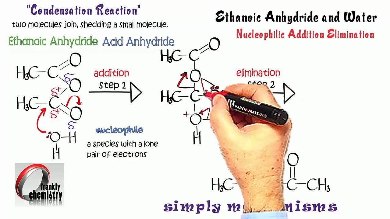 Simply Mechanisms 7e  Nucleophilic Addition Elimination (Ethanoic Anhydride  & Water)