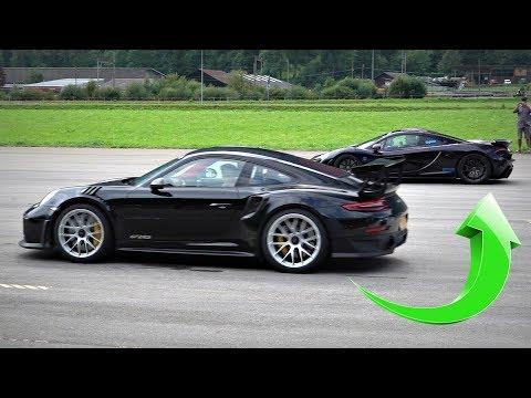 Porsche 991 GT2 RS EMBARRASS Hypercars on an Airstrip!! – Veyron, P1, Regera DRAG RACES!