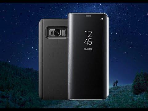 Зеркальный Флип Чехол для Samsung S6,7,8,9,Edge с дополнительными возможностями. #ВЗАГАЛИПОЗАГАЛЯМ