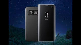 Дзеркальний Фліп Чохол для Samsung S6,7,8,9,Edge з додатковими можливостями. #ВЗАГАЛИПОЗАГАЛЯМ