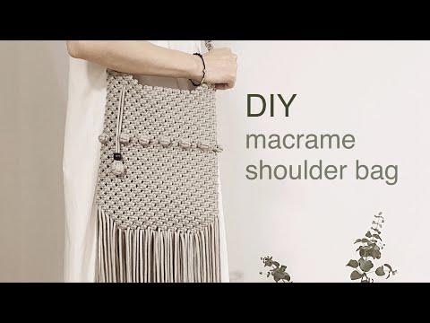 DIY TUTORIAL macrame shoulder bag berry knot | 마크라메 숄더 백 베리 매듭