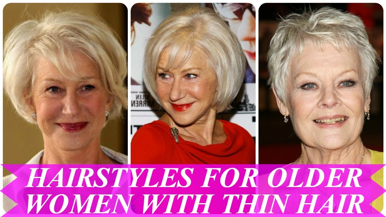 latest hairstyles for older women with thin hair - youtube