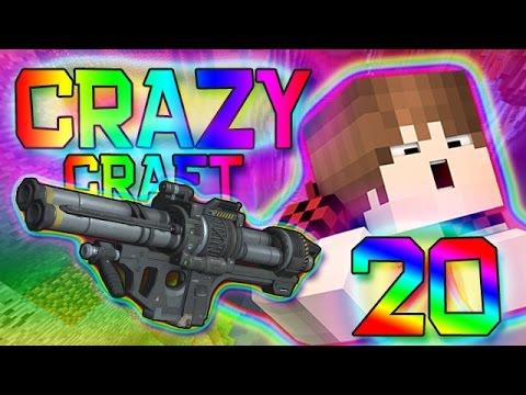 Minecraft: ROCKET LAUNCHER BAZOOKA MOD! Crazy Craft 2.0 Modded Survival w/Mitch! Ep. 20 (Crazy Mods)