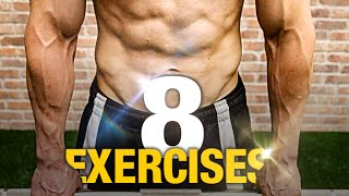 8 Exercises for Incredible Strength! (NO EXTRA TIME) thumbnail
