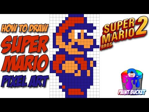 How To Draw Super Mario From Super Mario Bros 2 Smb2