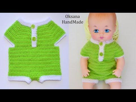 Вязание боди для новорожденных крючком видео