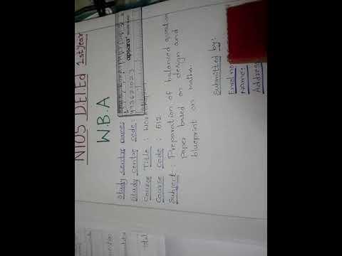 NIOS DElEd WBA maths question paper and blueprint