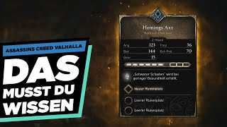 🔨SCHMIEDE GUIDE🔨 WAFFEN / RÜSTUNGEN LEGENDÄR MACHEN - Assassins Creed Valhalla Guide Deutsch