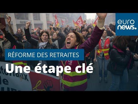 euronews (en français): Encore une journée clé pour la réforme des retraites en France