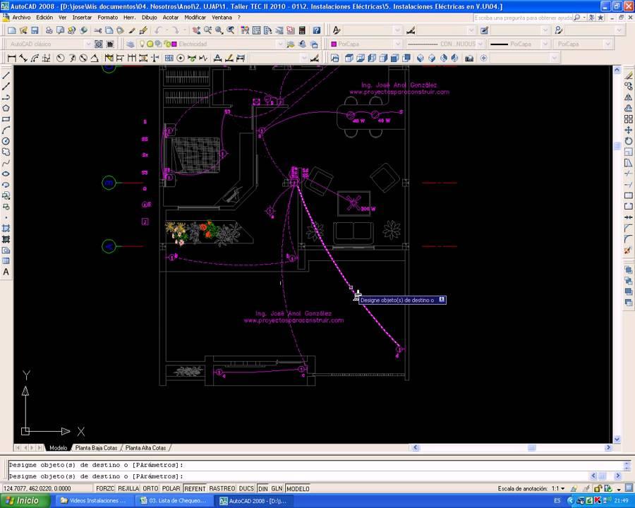Video 07 planos el ctricos iluminaci n tuber a por piso youtube - Tuberia para instalacion electrica ...