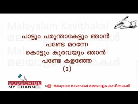 Paattum Parunthakettum Folk Song with lyrics   പാട്ടും പരുന്താകെട്ടും
