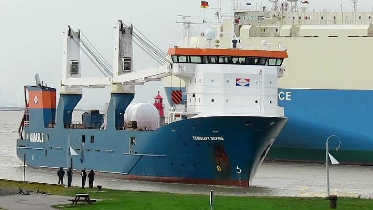 heavy load carrier EEMSLIFT DAFNE PCXF IMO 9671448 inbound ...