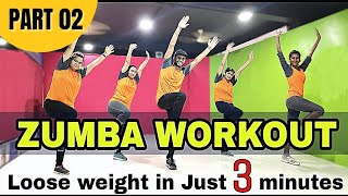 Basic Zumba Steps for Quick Weight Loss | Easy Cardio Workout For Beginners | Fitness in 4 minutes