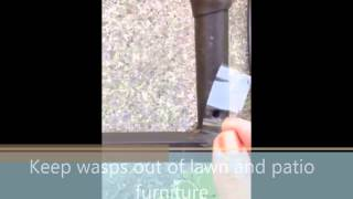 Keep Wasps Out Of Lawn And Patio Furniture. Diy In Seconds.