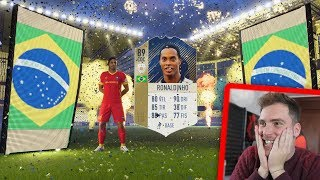 RONALDINHO ICON in a PACK!!! (al PRIMO pacchetto!) - FUT BIRTHDAY PACK OPENING FIFA 18 Ultimate Team