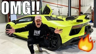 FLAMETHROWER LAMBORGHINI AVENTADOR SVJ EXHAUST!!