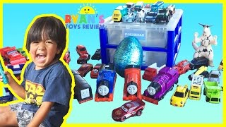 egg surprise toys disney cars thomas and friends family fun playtime outside ryan toysreview