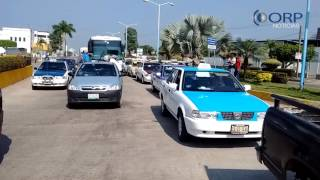Manifestación contra el gasolinazo en San Juan Bautista Tuxtepec