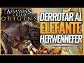 Assassin's Creed Origins | Como derrotar fácilmente al Elefante de Guerra Herwennefer + ATUENDO