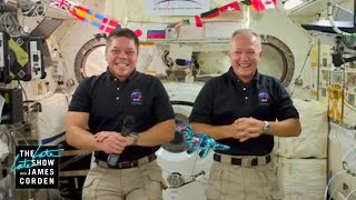 Live from Space: James Zooms w/ NASA Astronauts